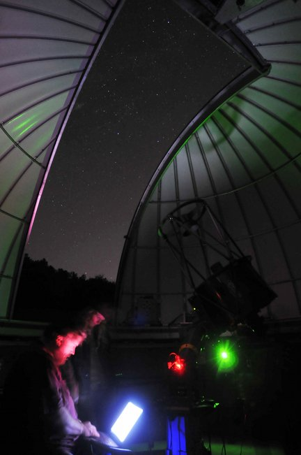 Here is an image from their website of the observatory.