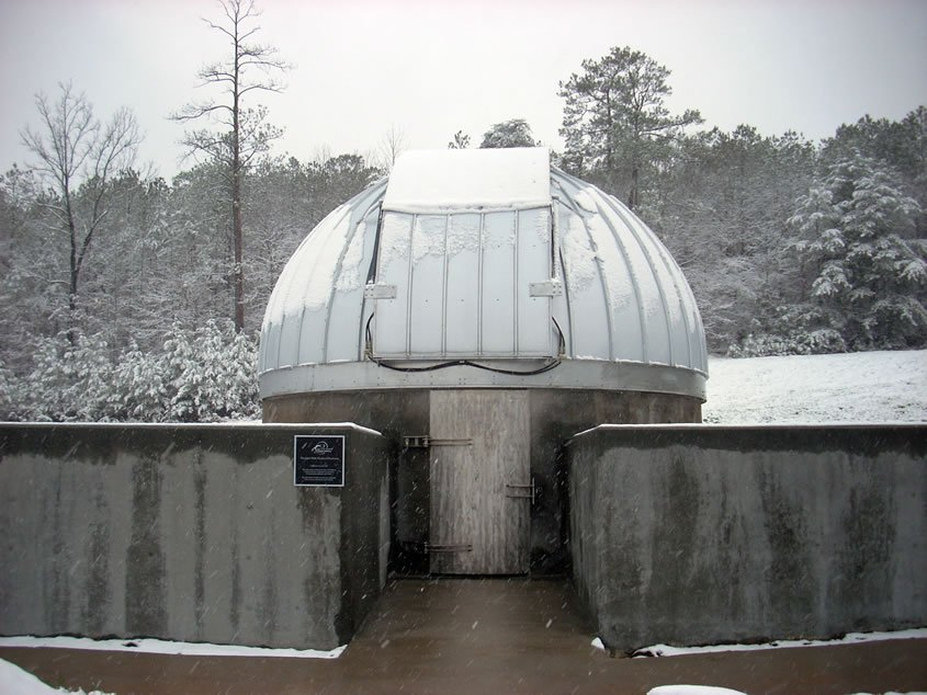 Here is a picture of the constructed JWSO in the snow.