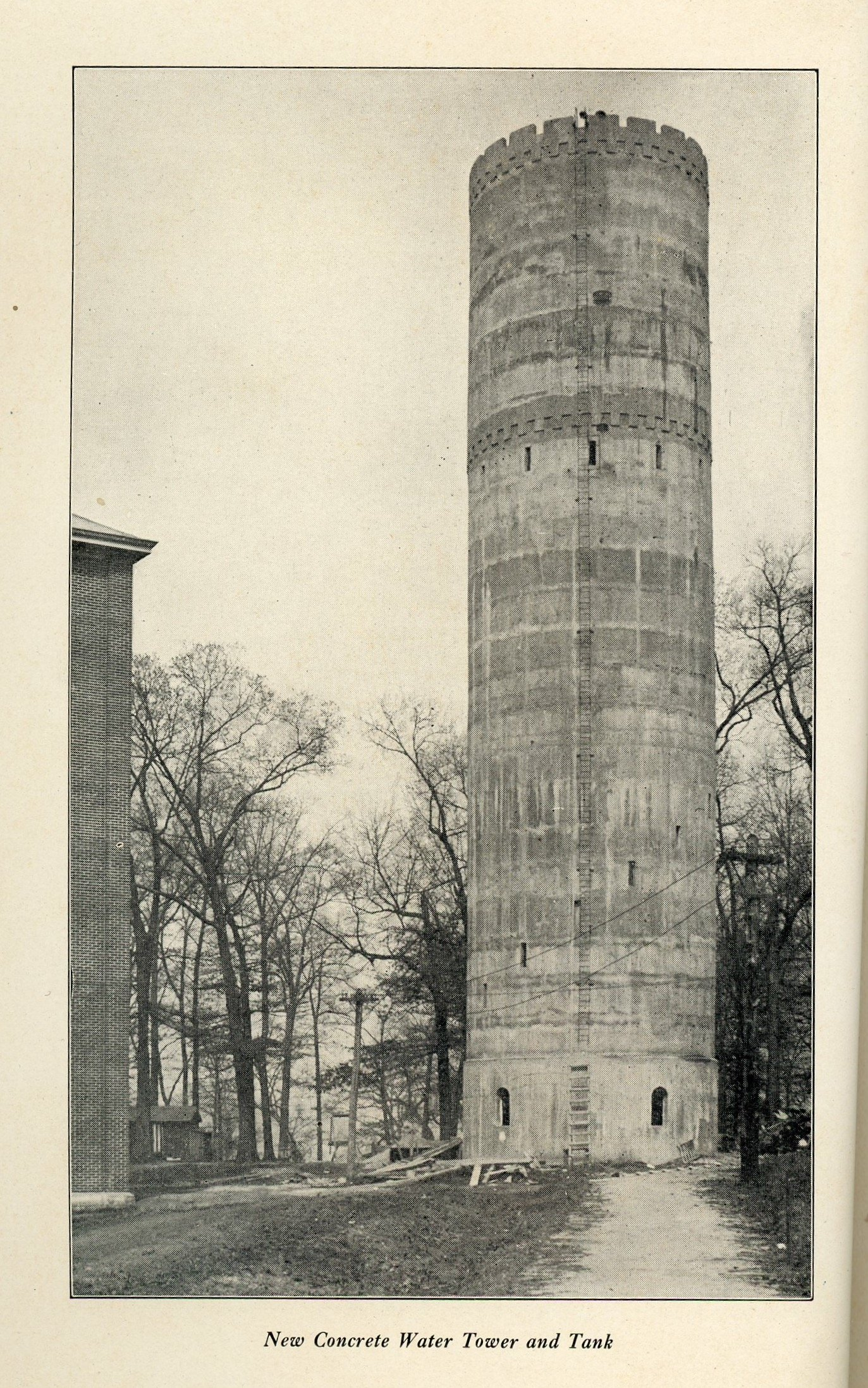 Here is an image from after construction was completed in 1911.