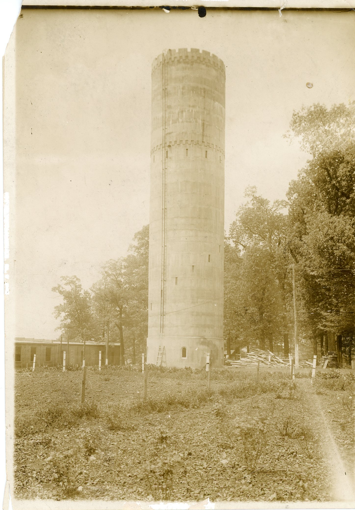This image of the Tower shows how undeveloped campus was at the time of its creation.