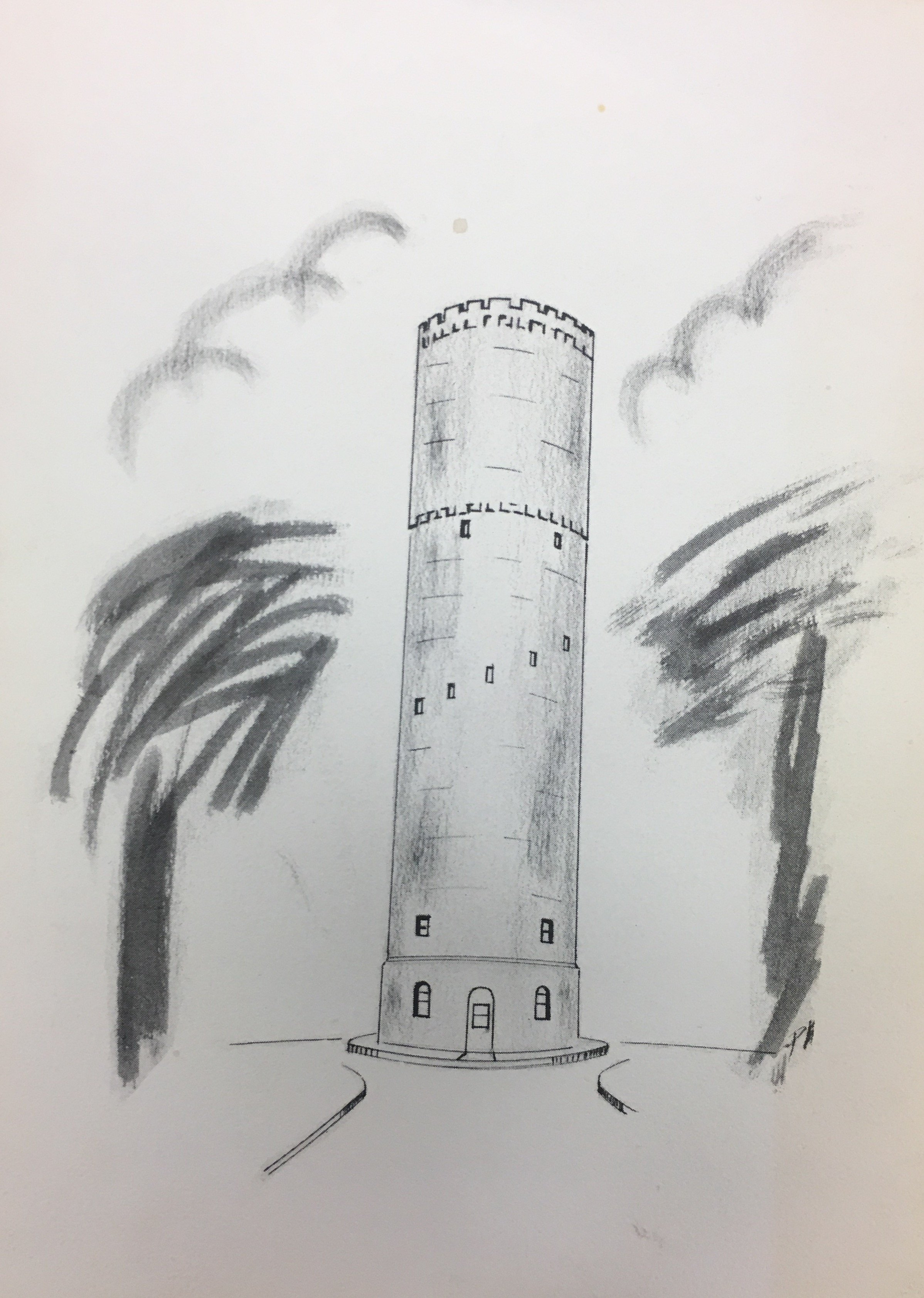 Here is a charcoal sketch of the Tower.
