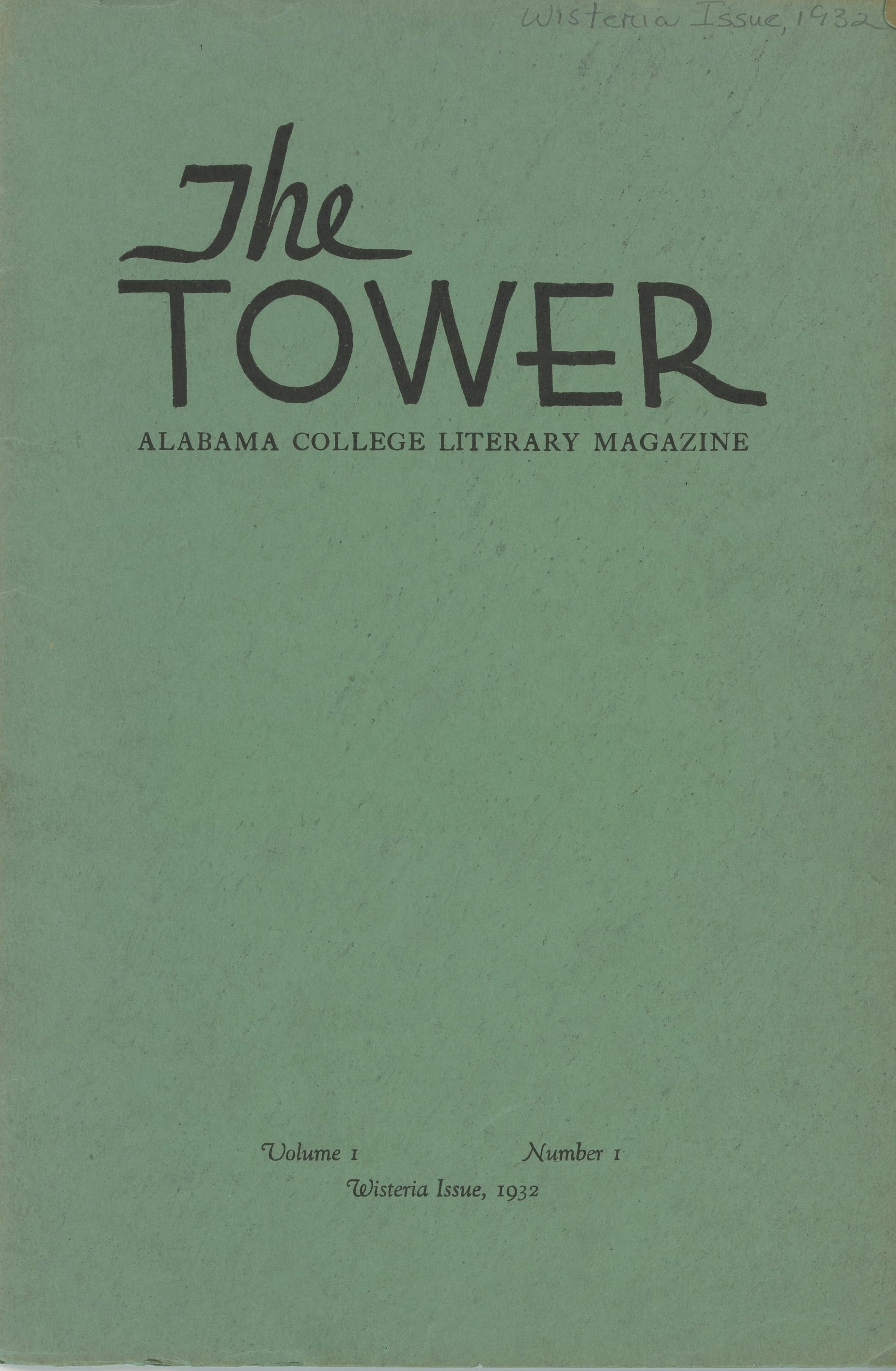 Here is the first published volume of the literary magazine named after the Tower. It was published in 1932.