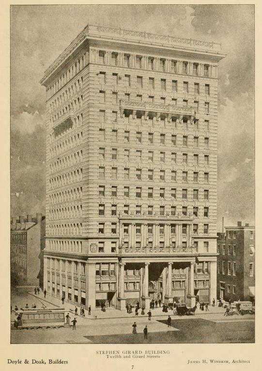 Stephen Girard Building, 1897