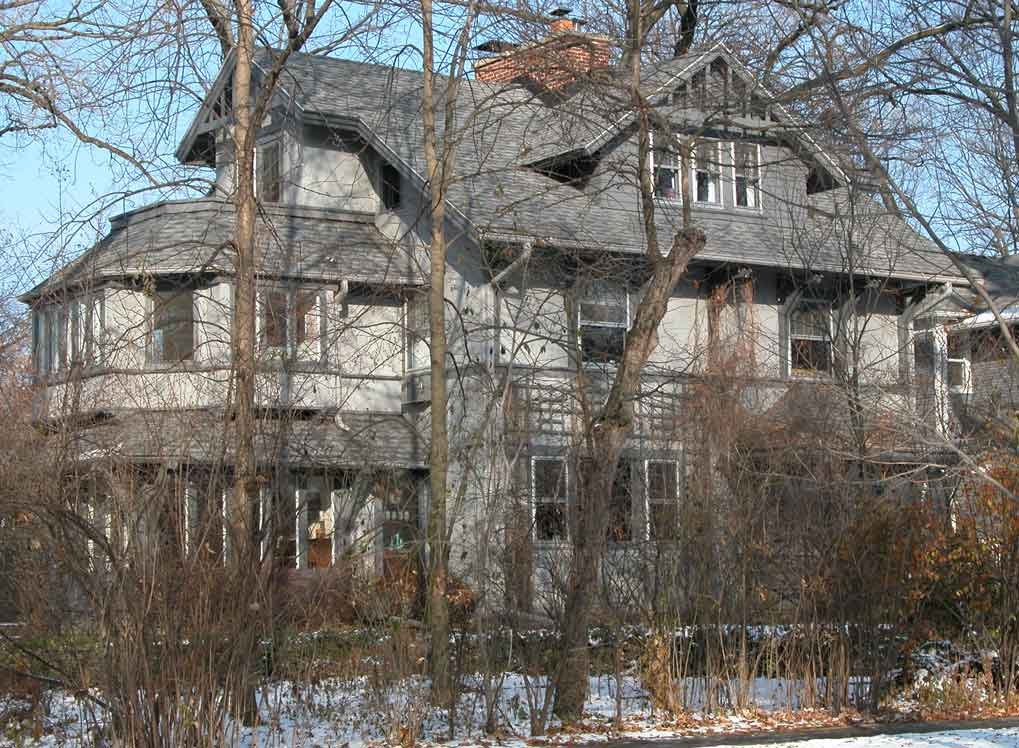 Embedded in Nature: The Perkins house was designed to include extensive landscaping, trees and other outdoor features.