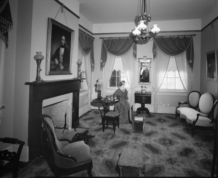 Parlor of Stillman House as furnished for museum in 1979 Engdahl photo (HABS TX-3285)