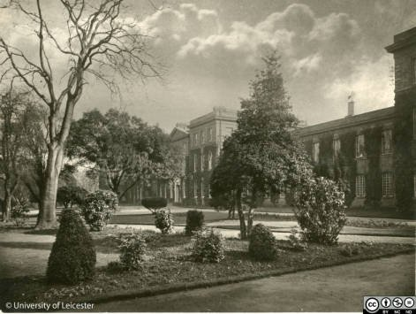 Fielding Johnson Building frontage, 1920s, University of Leicester Archives, ULA/1/3/78
