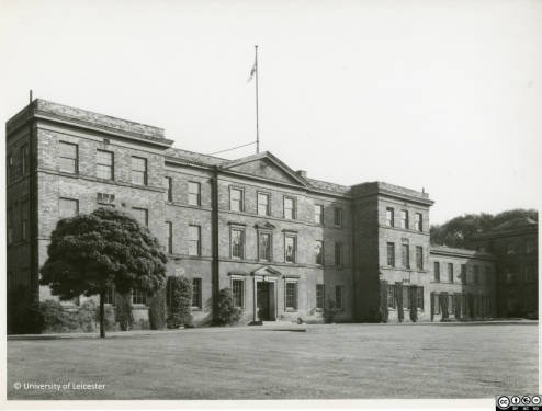Fielding Johnson Building Frontage, 1952, University of Leicester Archives, ULA/1/3/19