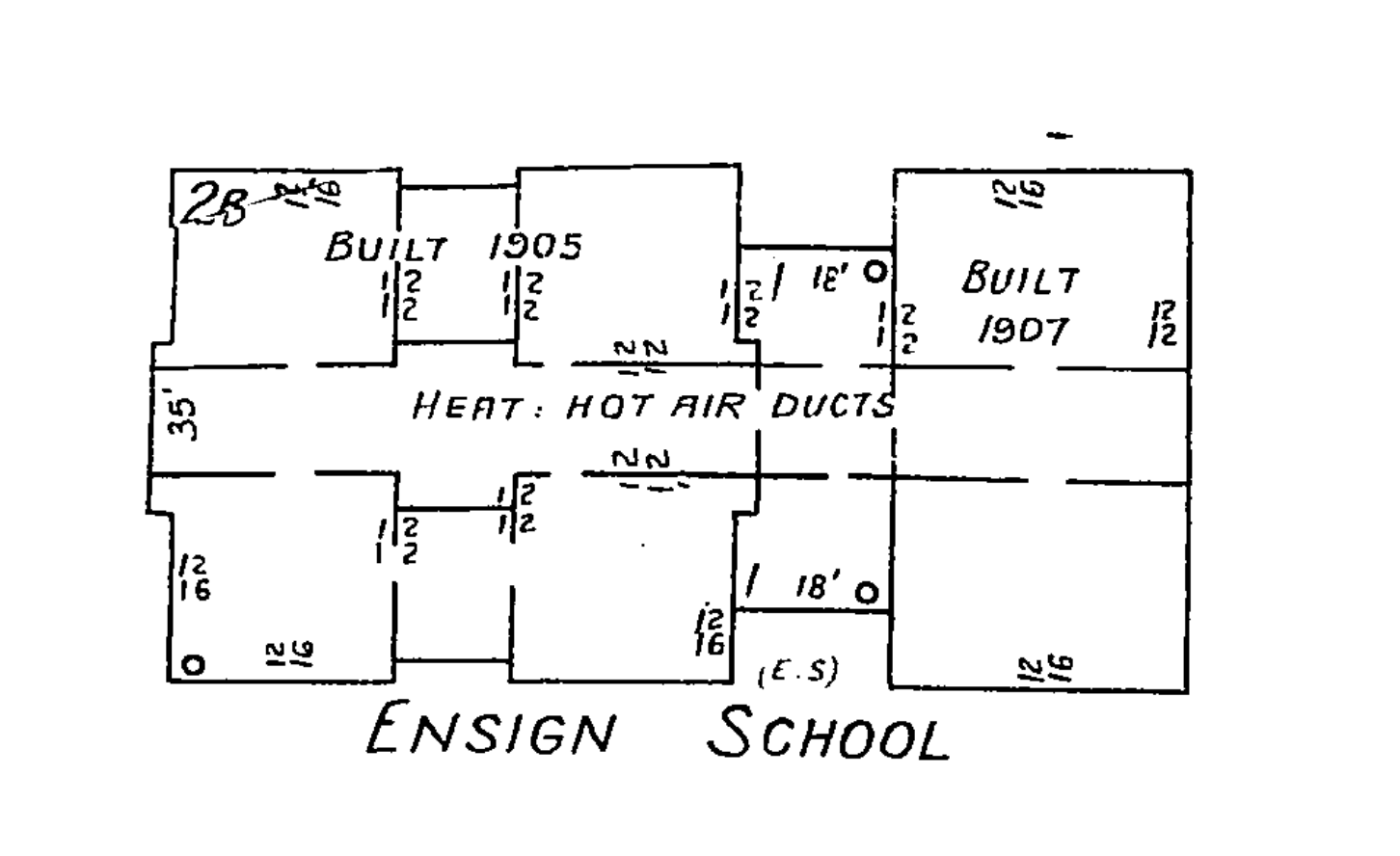 The Ensign School, from the 1931 Sanborn map