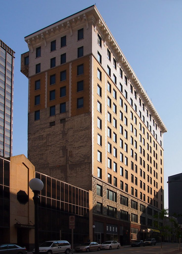 Commerce Building in St. Paul. The building opened in 1912 and transitioned into an apartment complex in 2008.