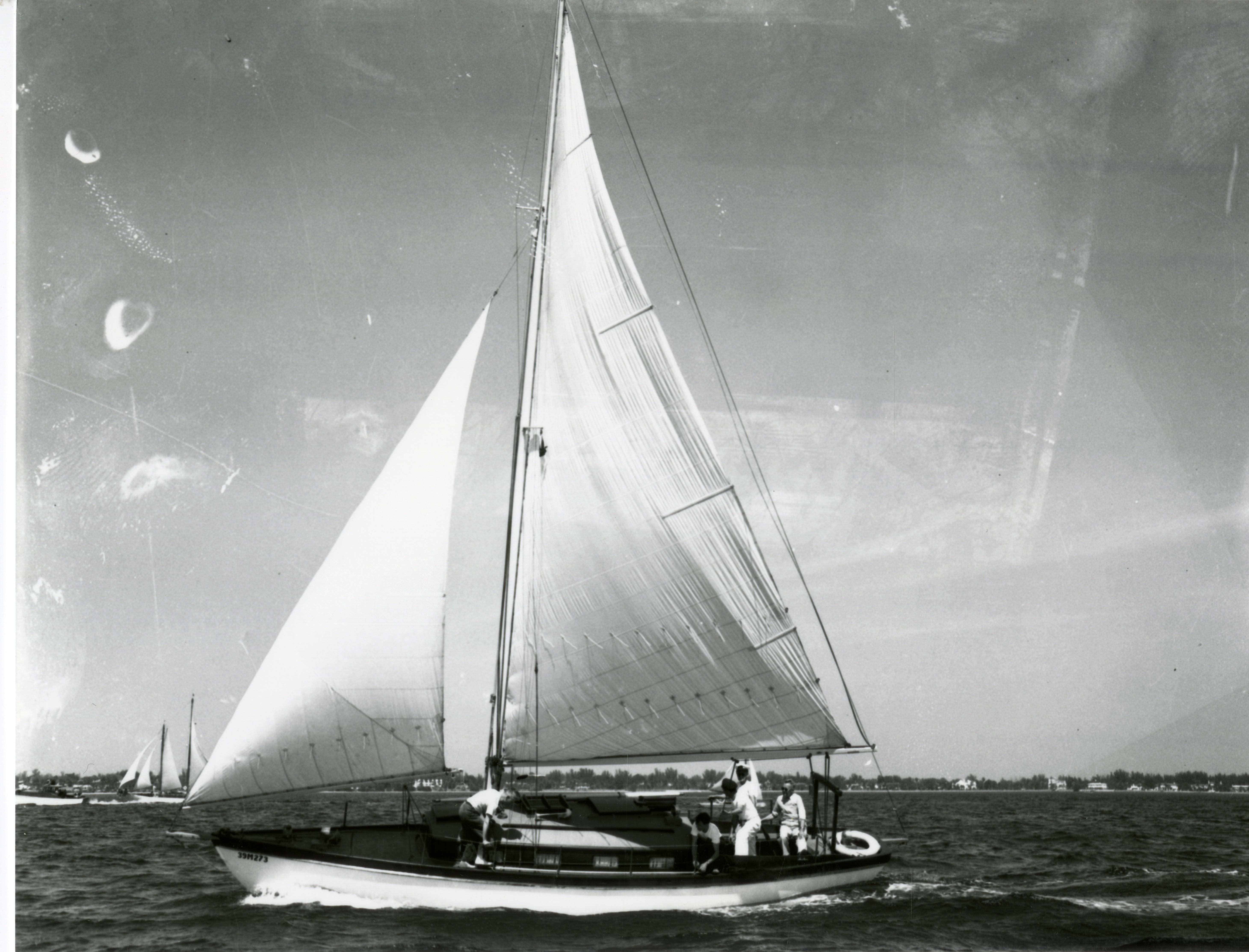 Yachts sailing in Tampa Bay, St. Petersburg, Florida, circa 1930s.