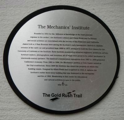 The Mechanics' Institute historical marker
