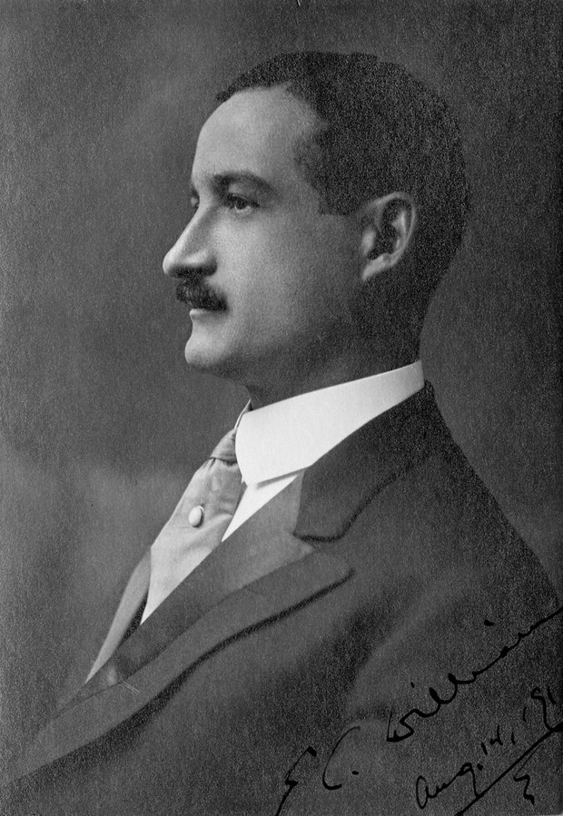 A black and white portrait of Edward Christopher Williams.