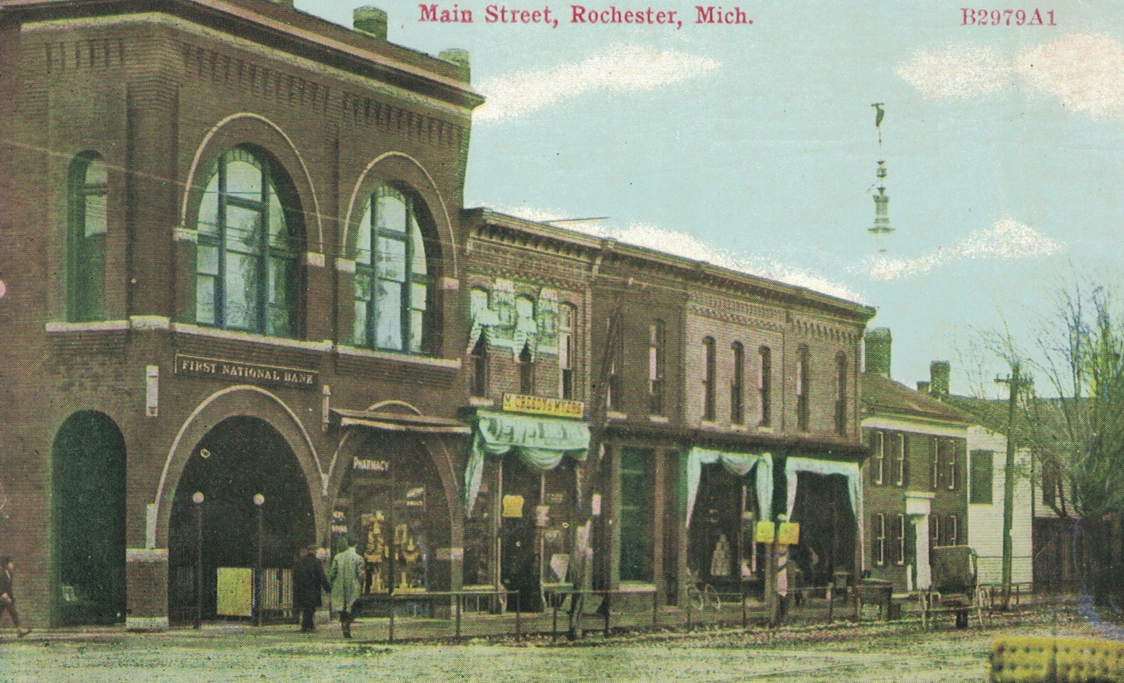 Rochester Opera House Block, west elevation, ca. 1910