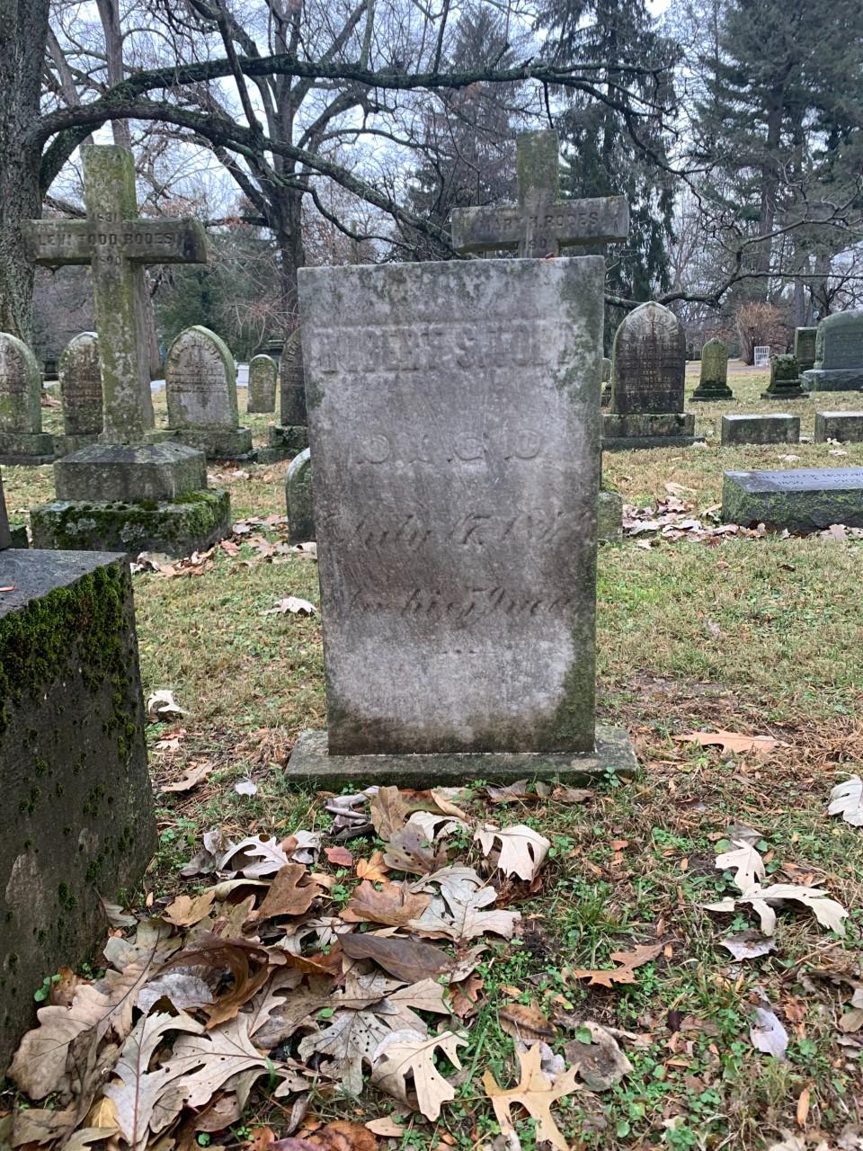Robert Smith Todd's tombstone in the Lexington Cemetery.