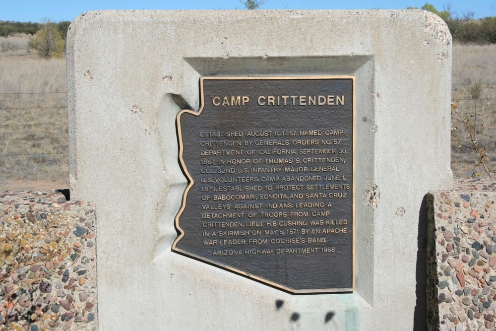 This historical marker commemorating Camp Crittenden (1867-1873) was dedicated in 1968