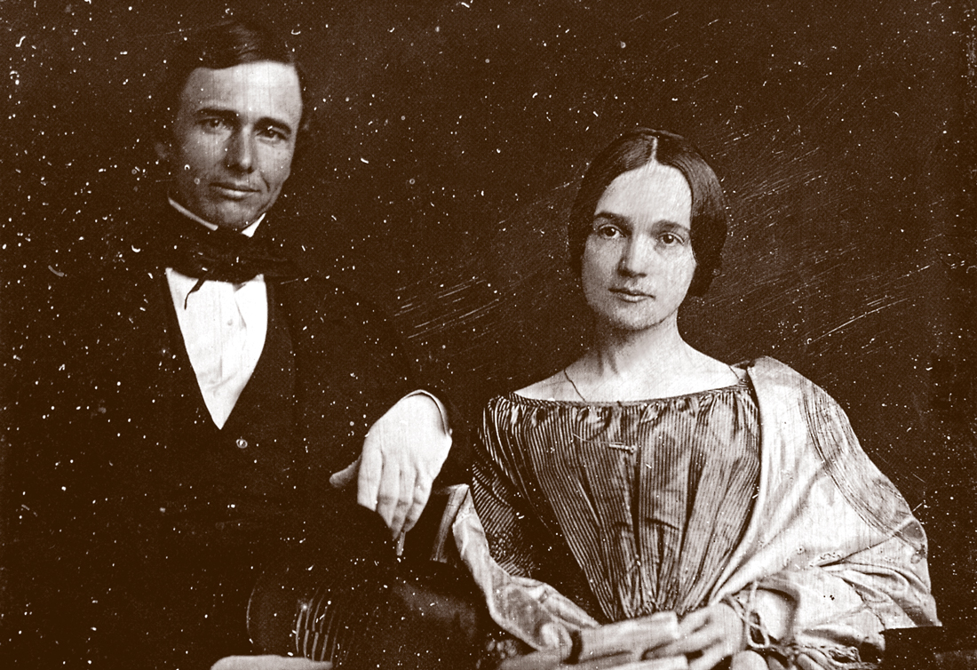 Mary Chesnut and her husband, Gen. James Chesnut Jr. on their wedding day in 1840.