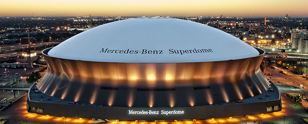 The re-branded Mercedes-Benz Superdome in New Orleans