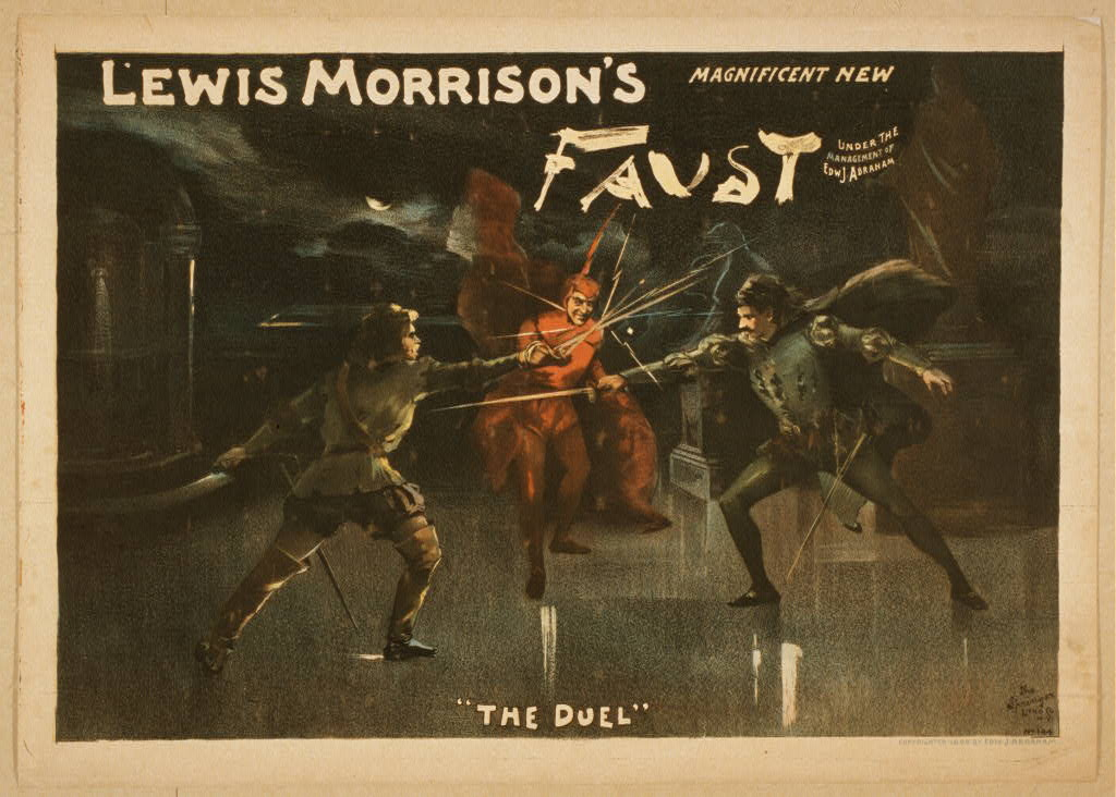 Poster for Morrison's version of Goethe's Faust (1889)
