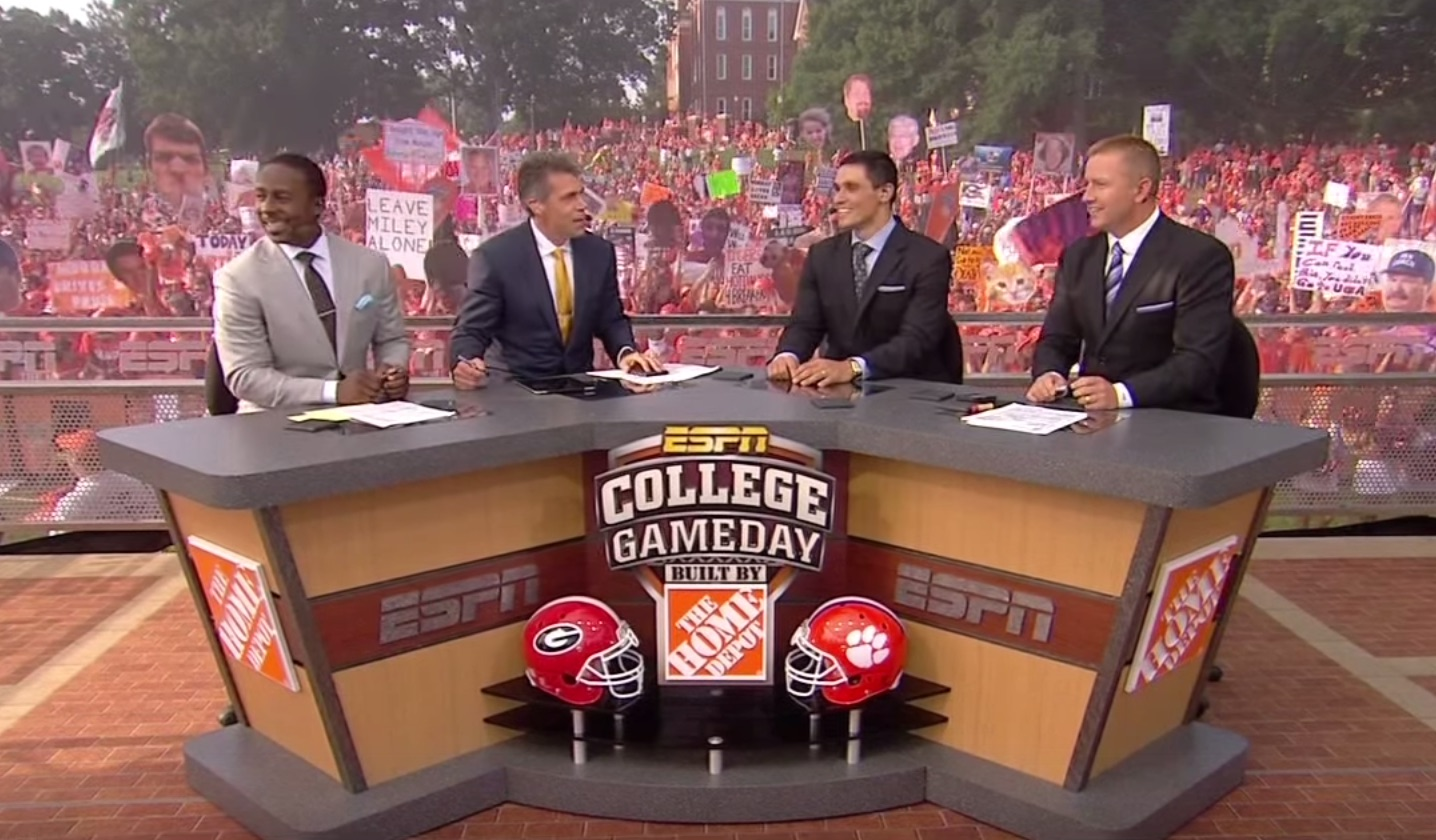College Gamday for Clemson vs. Georgia in 2013