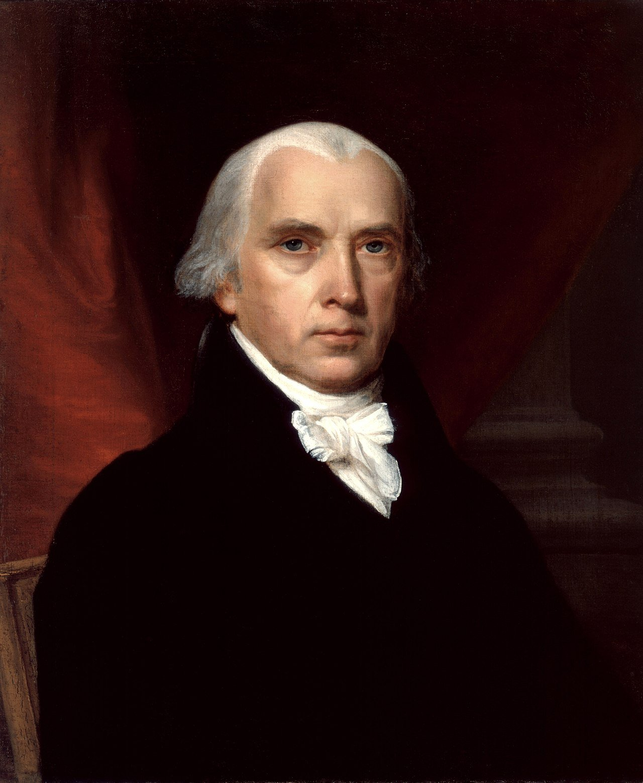"James Madison, known as the ""Father of the Constitution,"" helped centralize the federal government and served as the fourth President of the United States from 1809-1817. Wikimedia Commons."