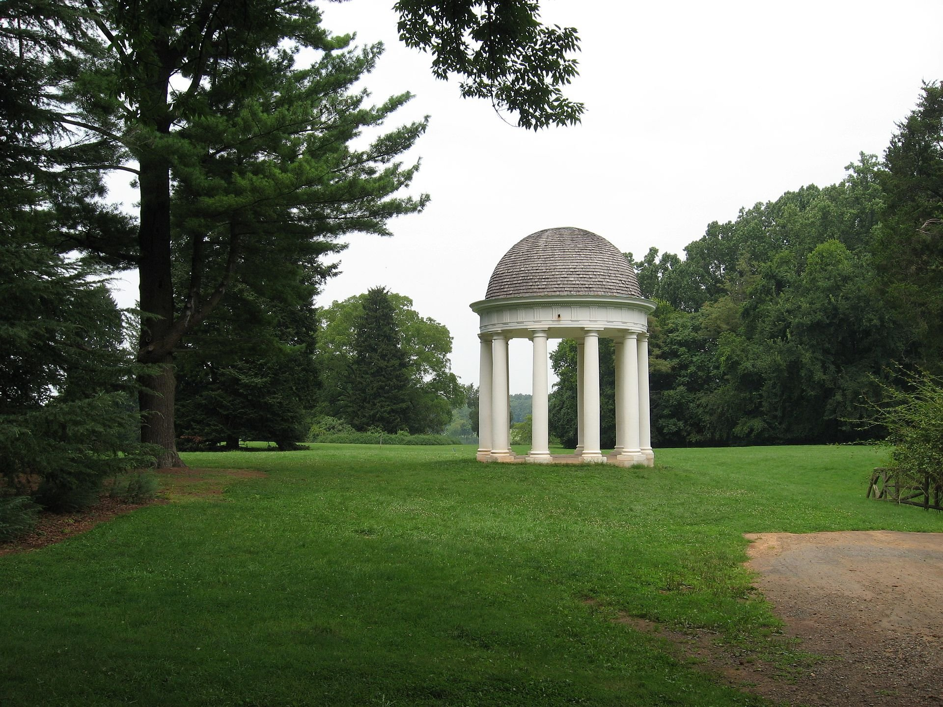 The Temple at Montpelier, inspired by architecture in ancient Greece, dates from James Madison's time. Wikimedia Commons.