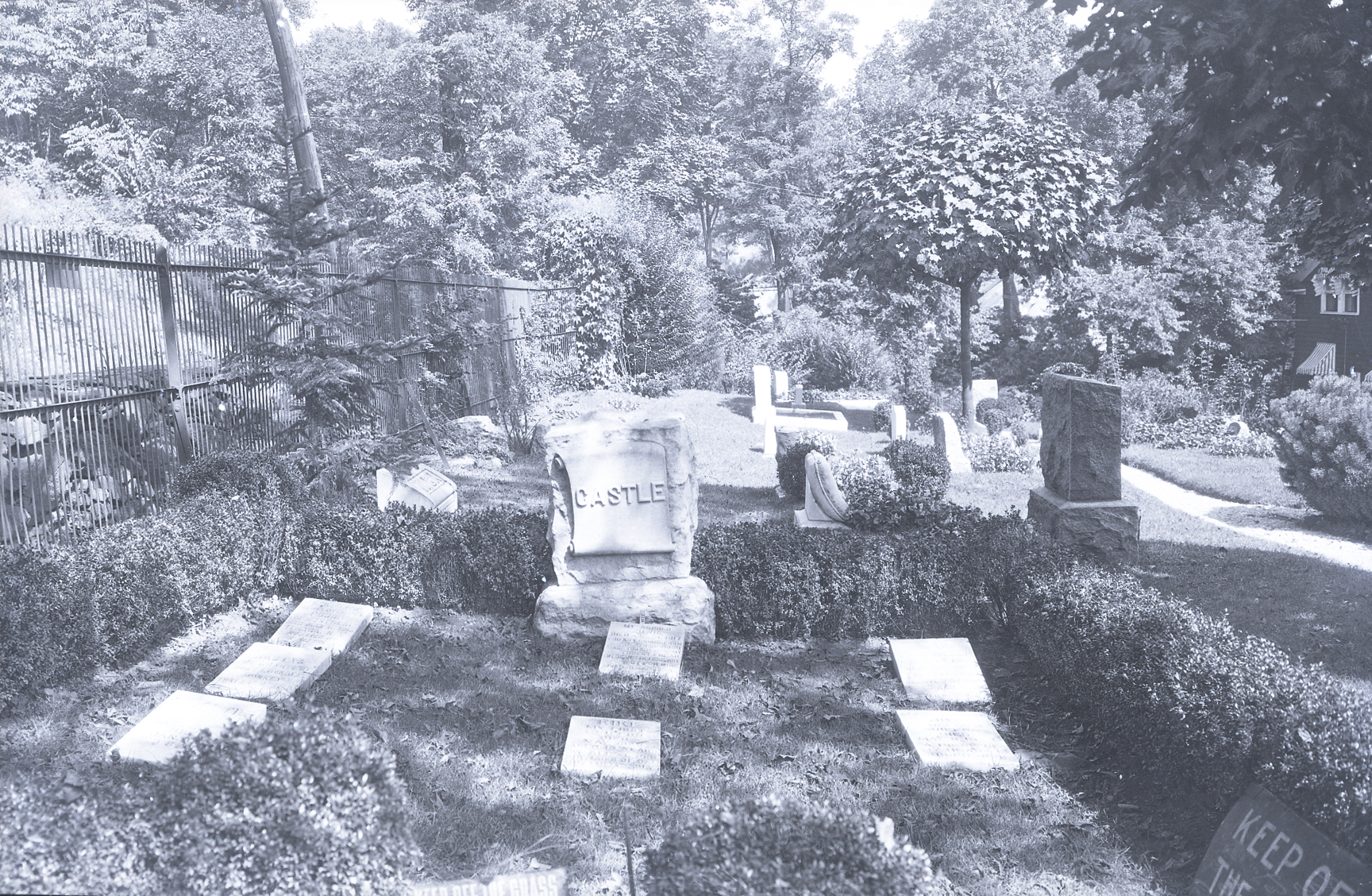 The plot of dancer and actress Irene Castle at the Hartsdale Pet Cemetery.