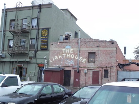 The backside of The Lighthouse Cafe