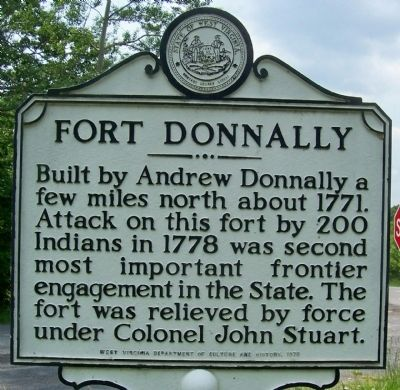 The Historical Marker for Fort Donnally