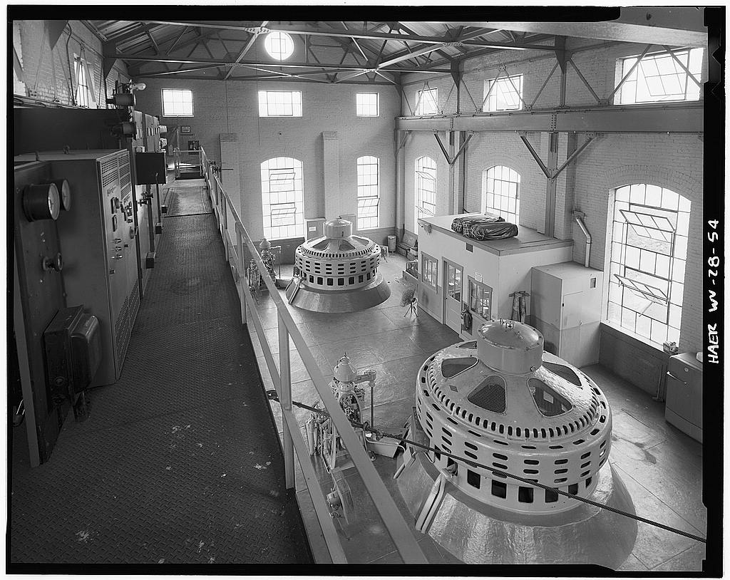 Inside the power plant, 1980