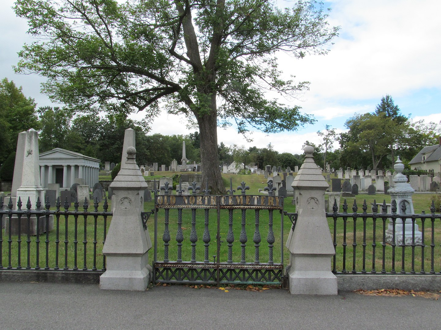 Old North Cemetery (est. 1730) in Concord, NH.