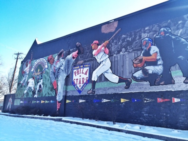 Philadelphia Stars Negro League Memorial Park Mural