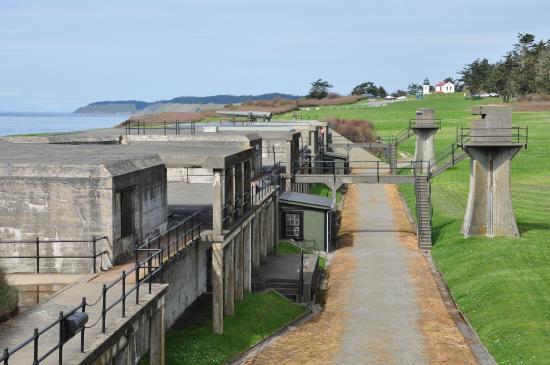 Fort Casey's main gun line.