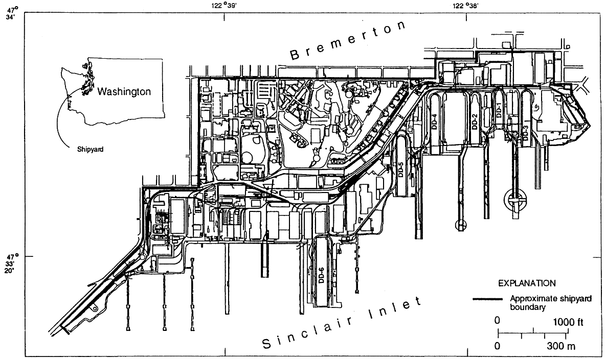 Map layout of the shipyard
