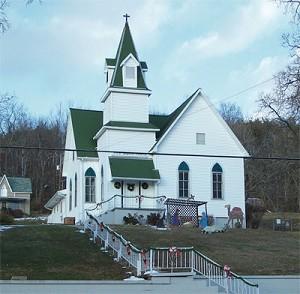 First Baptist Church of Coalton, constructed 1902