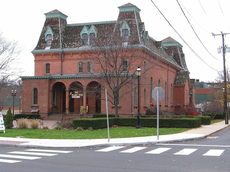 Cheney Hall, presently known as The Little Theater of Manchester at Cheney Hall.