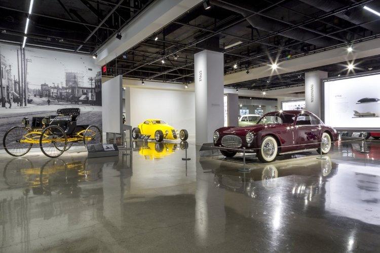 The museum features over 100 cars on display and houses many more in the Vault, a storage area in the basement, which visitors can tour.
