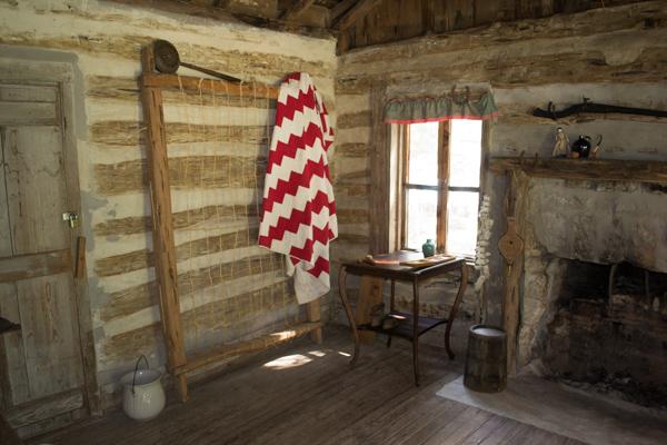 Original Gault log cabin