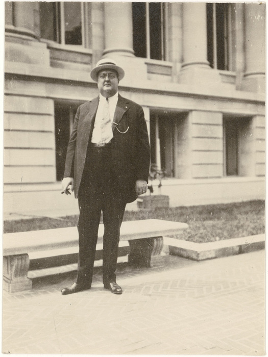 George Gustav Heye in 1917, whose collection led to the first iteration of the National Museum of the American Indian