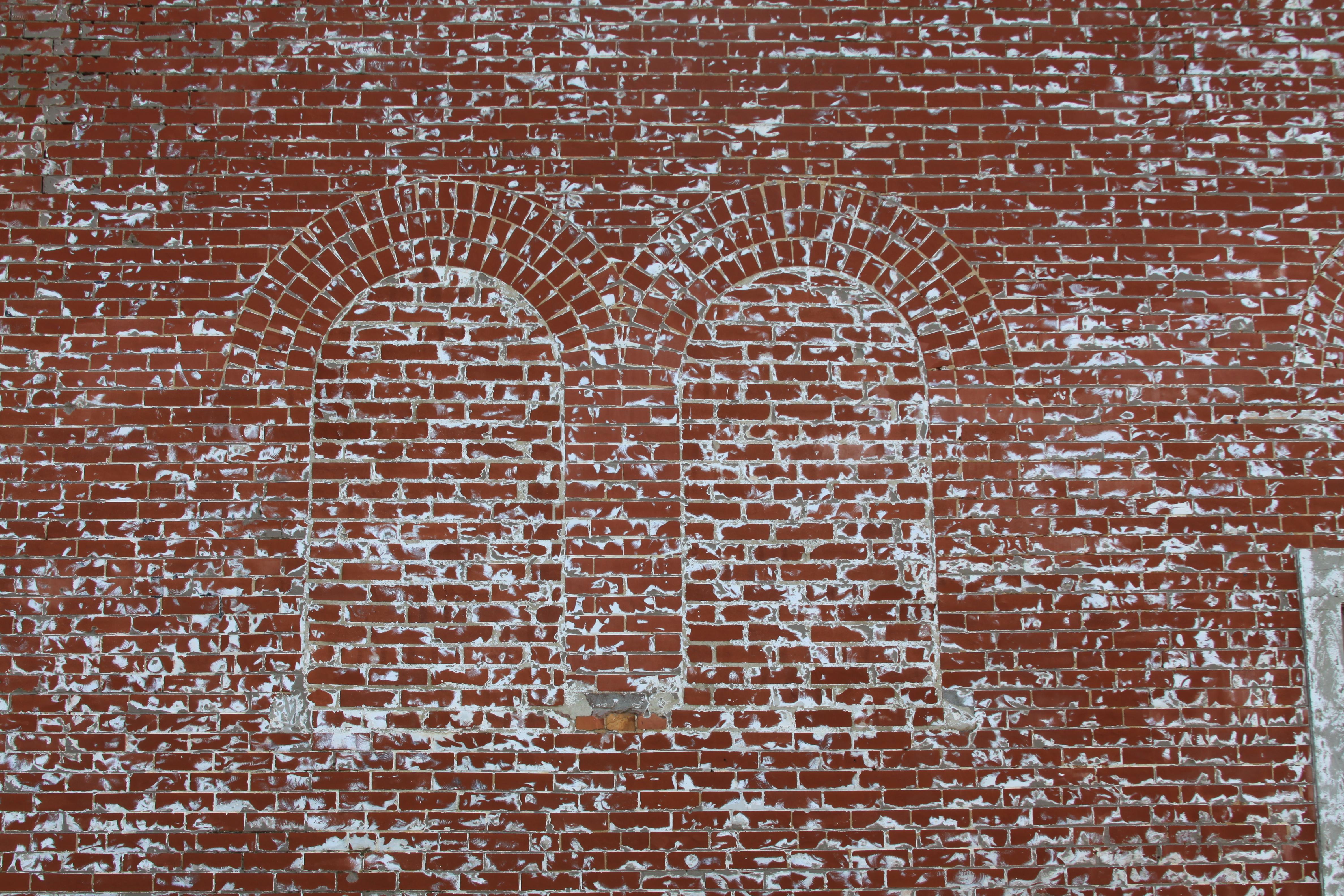 Original church windows, north side of building