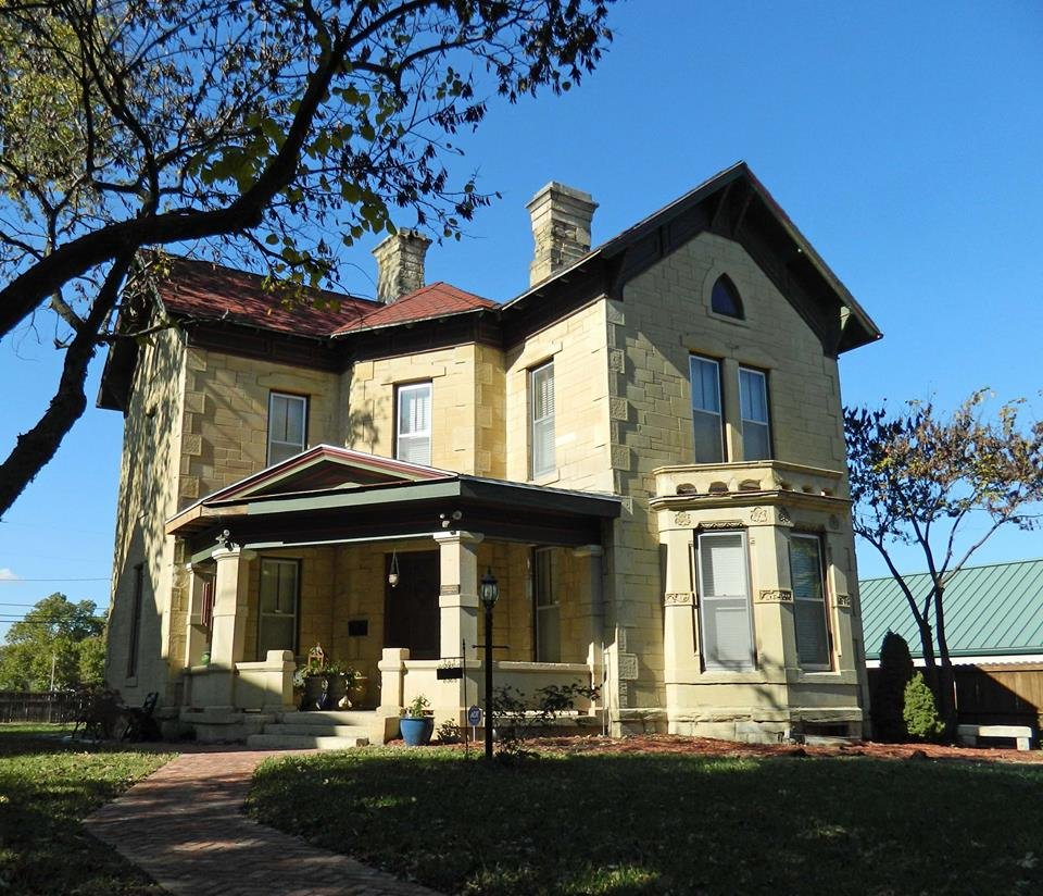 "Sargent was known as ""the man who built Topeka"". He died at this house on March 16, 1916, age 66."