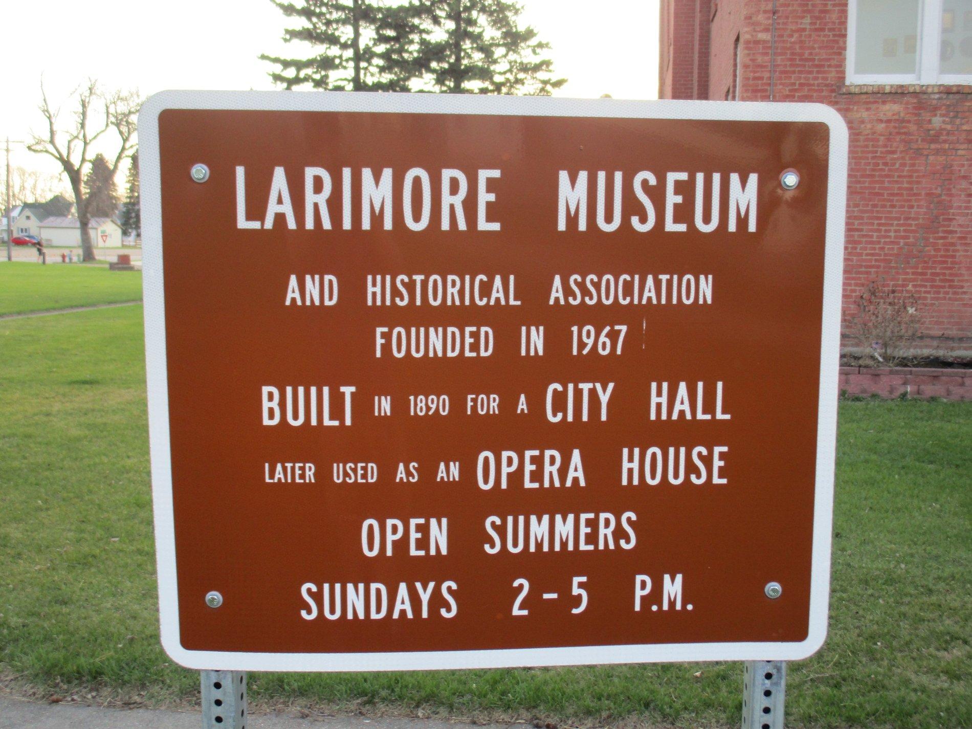 Larimore Museum Sign