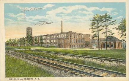 Postcard of Gibson Mills circa 1920
