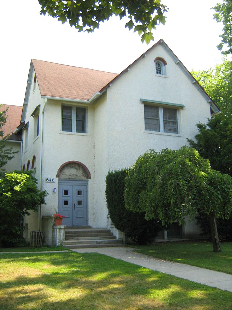 Front Entrance of Roycemore School, Evanston, IL. (Modern Picture)