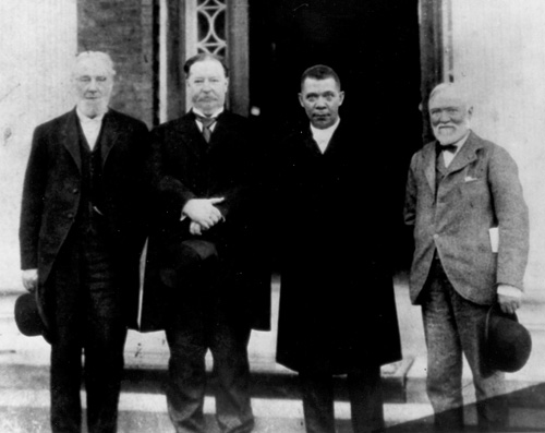R.C. Ogden, Senator Taft, Booker T. Washington, and Andrew Carnegie
