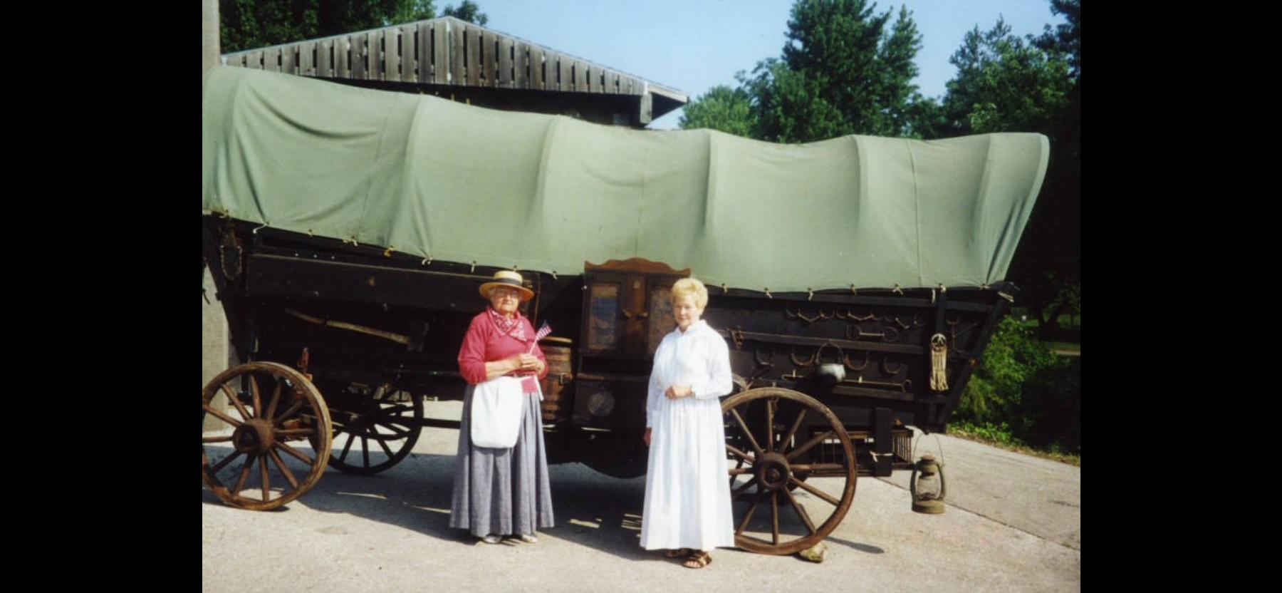The historical society's Conestoga prairie schooner wagon