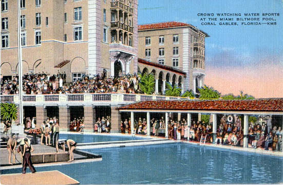 The Biltmore's hotel pool was once the largest pool in the world and remains the largest hotel pool in North America