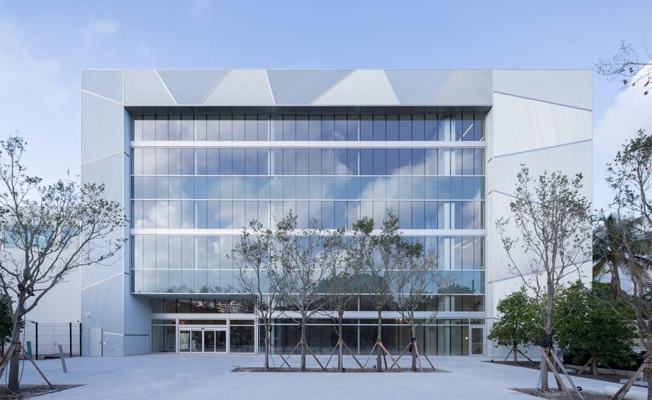The light and airy building is a constellation of metal triangles and glass panels. Credit: Iwan Baan, ICA Miami