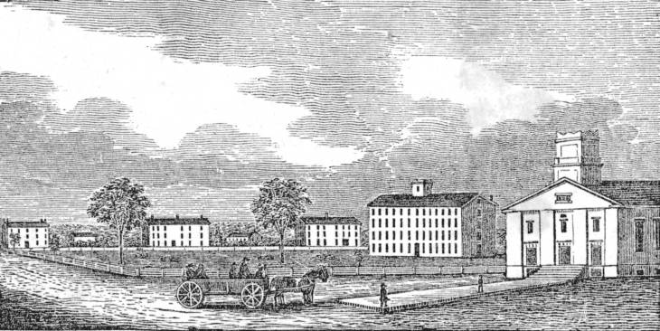 This photo is of the collegiate buildings at Oberlin College in Ohio. The school that Almira Porter Barnes attended and a hub for anti-slavery movements.