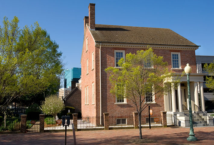 This historic house once served as the home of the Norfolk History Museum and is now administered by the Chrysler Museum of Art.