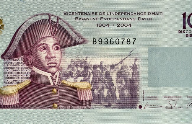 "Sanité Bélair is considered one of the heroes of the Haitian Revolution. In 2004, she was featured on the 10 gourd banknote of the Haitian gourde for the ""Bicentennial of Haiti"" Commemorative series."
